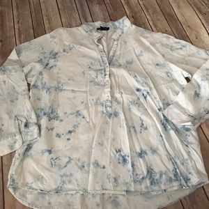 Acid washed oversized chambray shirt size large